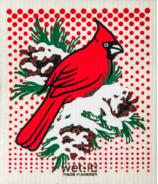 Wet-it Swedish Dish Cloth Winter Cardinal