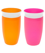 Munchkin Miracle 360 Sippy Cup Orange & Pink
