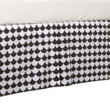 Lolli Living Bed Skirt Kayden Black Scallop