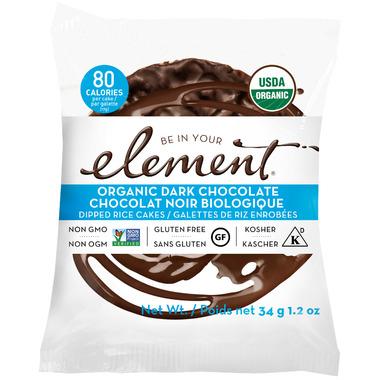 Element Snacks Organic Dark Chocolate Dipped Rice Cakes