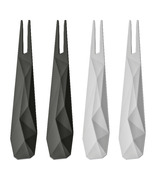 koziol Club Hors D'Oeuvres Forks Black/White