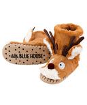 Little Blue House by Hatley Kids Slippers Brown Reindeer