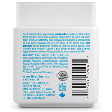 Live Clean Baby Soothing Oatmeal Relief Non-Petroleum Jelly