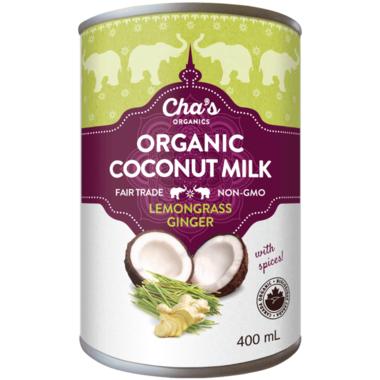 Cha\'s Organics Lemongrass Ginger Coconut Milk
