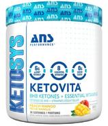 ANS Performance KETOVITA BHB Ketones + Essential Vitamins Peach Mango