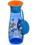 Wow Cup Mini 360 Spill-Free Cup with Lid Blue Cars