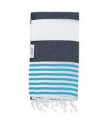 Lualoha Turkish Towel Striped Goodness Navy & Blue