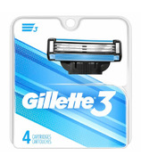 Gillette3 Men's Razor Blade Refills 4 Count