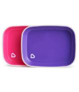 Munchkin Spash Collection Flat Plates Pink & Purple