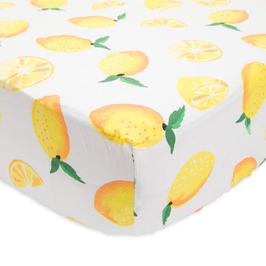 Little Unicorn Brushed Crib Sheet Lemon
