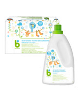 babyganics Fragrance Free Laundry Detergent + Dryer Sheets Bundle