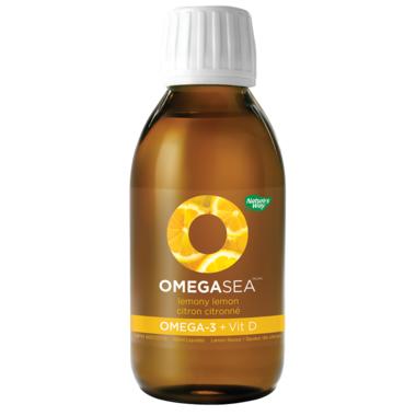 Nature\'s Way OmegaSea Omega-3 + Vitamin D Lemony Lemon