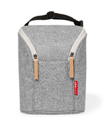 Skip Hop Grab & Go Double Bottle Bag Grey Melange