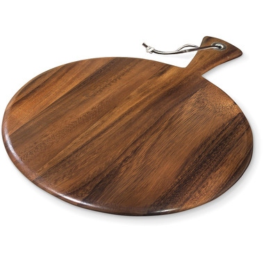 Ironwood Gourmet Small Round Acacia Wood Paddle Board