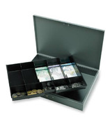 Sparco Cash Box with Tray
