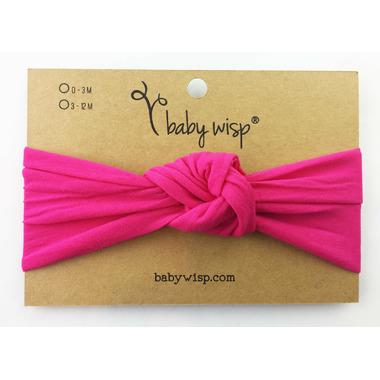 Baby Wisp Headband Turban Knot Dark Pink 3M+