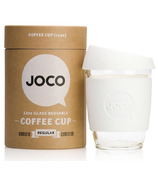 JOCO Glass Reusable Coffee Cup in White