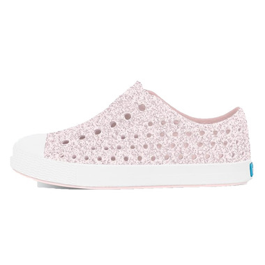 Native Kid\'s Jefferson Milk Pink Bling & Shell White