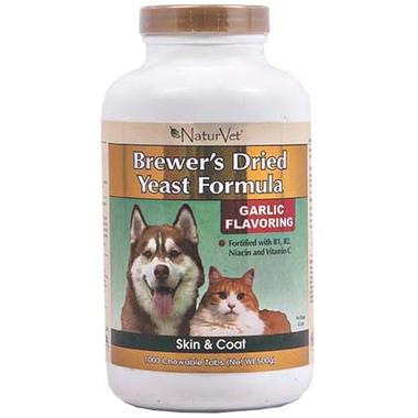 Naturvet Brewer\'s Dried Yeast Formula Tablets Garlic