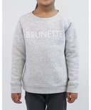 BRUNETTE The Label Brunette Crew Pebble Grey