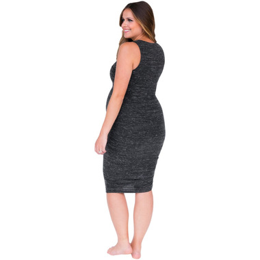 Belly Bandit Perfect Nursing Dress Heather Charcoal