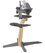 Nomi Highchair White Oak with Gray Seat