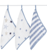 aden + anais Washcloth Set Rock Star