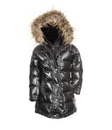 Appaman Sparkle Black Long Down Coat