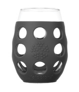 Lifefactory Small Wine Glasses with Carbon Silicone Sleeve