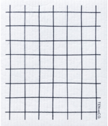 Ten & Co. Swedish Sponge Cloth Grid Black