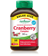 Jamieson Maximum Concentrate Cranberry Complex 500 mg Value Size