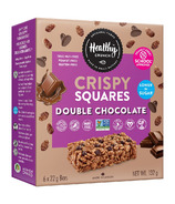 Healthy Crunch Rice Crispy Squares Double Chocolate