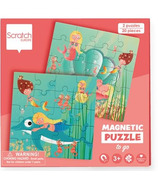 Scratch Magnetic Puzzle Book To Go Mermaid