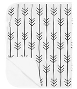 Kushies Flat Changing Pad Flannel One Direction Black & White