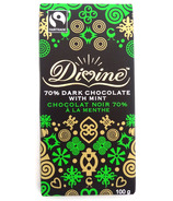 Divine Chocolate Fair Trade 70% Dark Chocolate with Mint