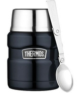 Thermos Stainless Steel Food Jar With Folding Spoon Midnight Blue