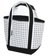 Keep Leaf Insulated Lunch Tote Black/White