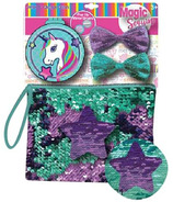 Unicorn Sequins Purse with Bows & Unicorn Mirror