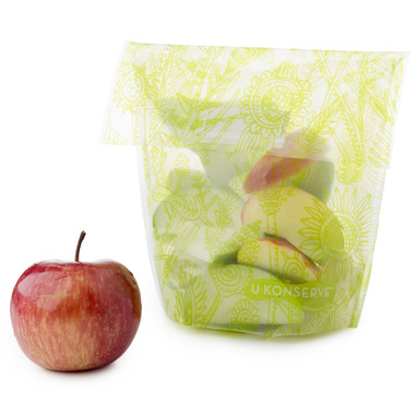 U-Konserve Food Kozy Snack Bag Clear Lime