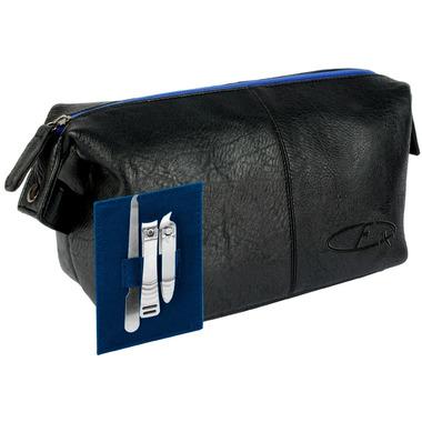 Fina Waterford Shave Kit & Mini Manicure Set Blue