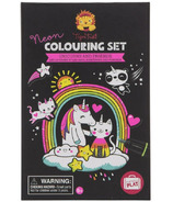 Tiger Tribe Unicorn & Friend Neon Colouring Set