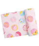 Angel Dear Donuts Swaddle Blanket Pink