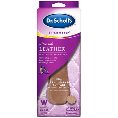 Dr. Scholl\'s Stylish Step Ultrasoft Leather Insoles for High Heels