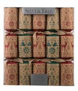 Silver Tree Christmas Kraft Crackers