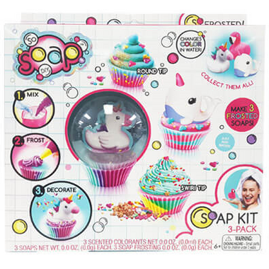 Canal Toys So Soap Cupcake DIY Kit 3 Pack Unicorn