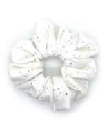 All Tied Up White Eyelet Scrunchie