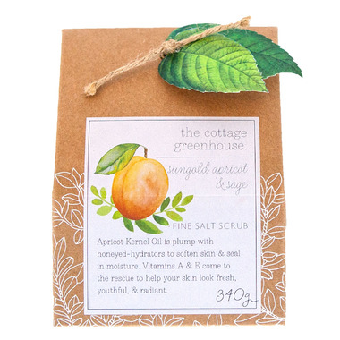 The Cottage Greenhouse Sungold Apricot & Sage Fine Salt Scrub