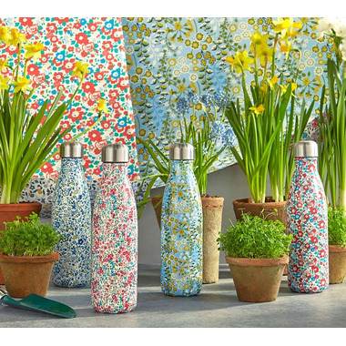 S\'well Primula Blossom Stainless Steel Water Bottle Liberty Collection