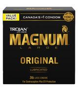 Trojan Magnum Large Size Préservatifs en latex lubrifiés