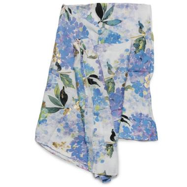 Loulou Lollipop Luxe Muslin Swaddle Blanket Hydrangea
